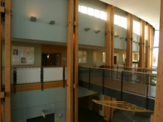 Corridor and Bridge in the Health Center