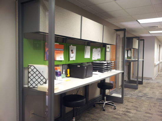Mulitple Work Zone Options contribute to an Effective Work Environment within a Small Suite