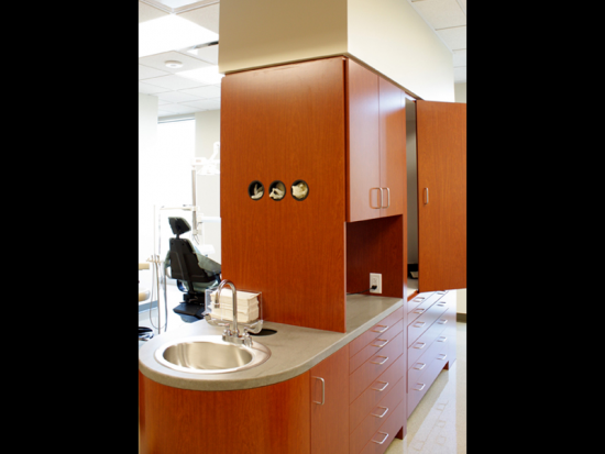 Custom millwork in the Dental Clinic