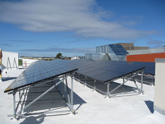 Roof Photovaltaic Panels and High Efficiency HVAC